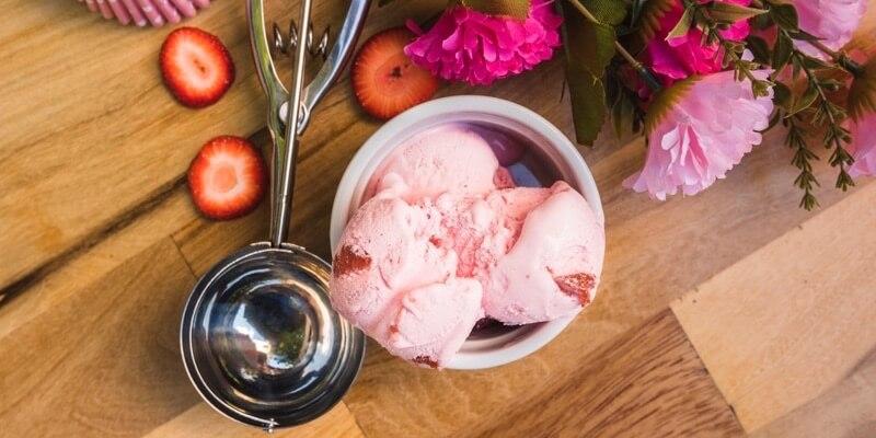 coupe de glace fraise