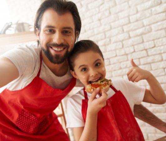 pizza en famille